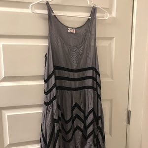 NWT Free People Gray and Black tunic